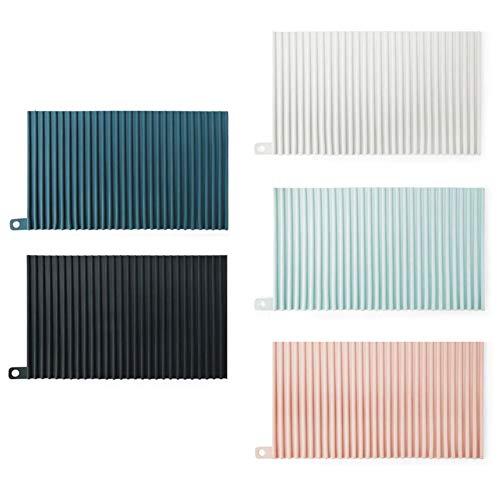 Washboard Silikon Wäsche Brett Haushalt Badezimmer Faltbare Washboard Vakuumsaugschalen-Anti-Rutsch-Kleine Folding Washboard 5 Stück
