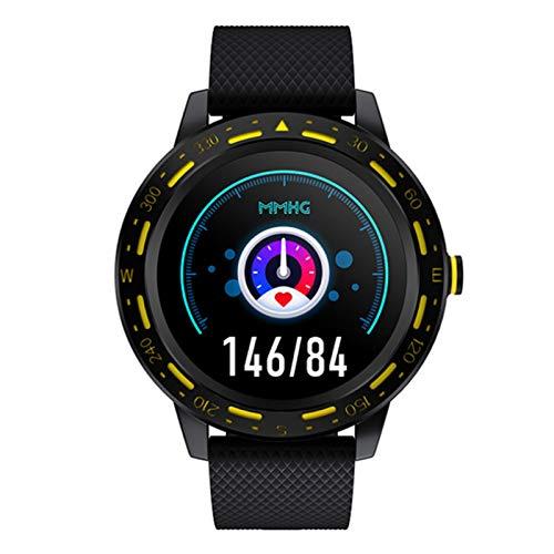 Wsaman Reloj Fitness Inteligente Fitness Tracker Deportivo Tracker Smartwatch Pulsera Actividad con Pulsómetro Cardíaco y Sueño, con Pantalla Táctil para Android/iOS/Mujer/Hombre,Negro