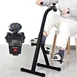 Folding Pedal Exerciser with Multifunctional LCD Display, Mini Arm Leg Exercise Bike Foot Hand Cycle Portable Stationary Peddler Machine Bicycle Exerciser for Elderly Men Women