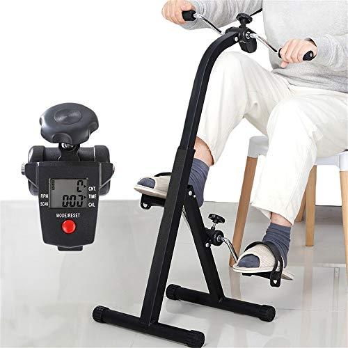 Pedales Estaticos, Mini Bicicleta Estática Plegable, Pedaleador Plegable LCD Pantalla, Máquinas De Brazos Y Piernas Entrenamiento Resistencia Ajustable Para Hacer Ejercicio En Casa