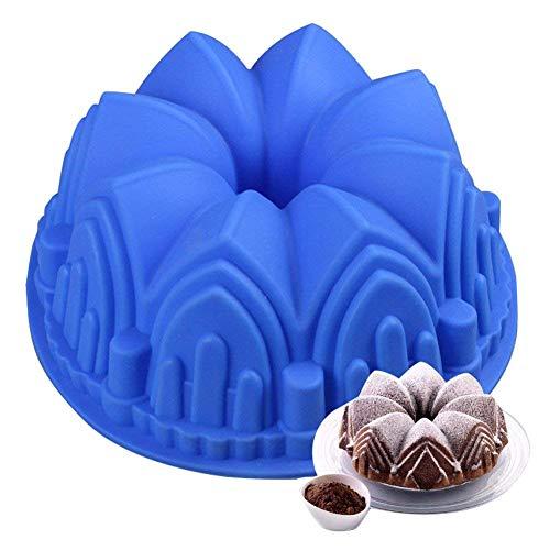 Molde de silicona para tartas de cumpleaños, diseño de corona grande, para decoración de postre de cumpleaños, tartas, tartas, tartas, tartas, pasteles, flan y mucho más.