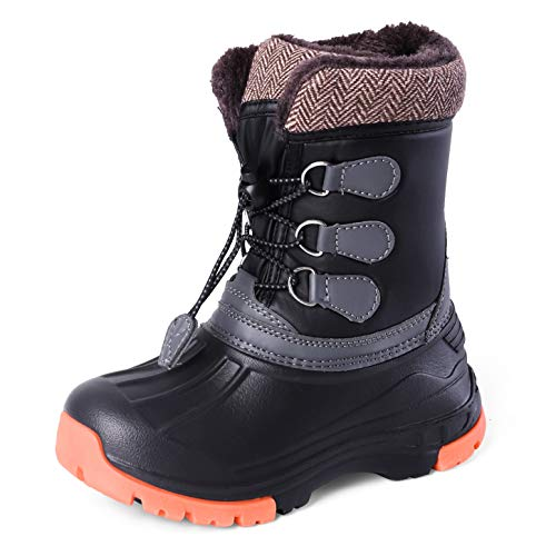 Nova Mountain Little Kid's Winter Snow Boots,NF NFWBN01 Black 9