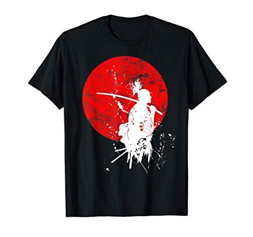 Japanische Samurai Krieger Retro Japan Mut Respekt Geschenk T-Shirt