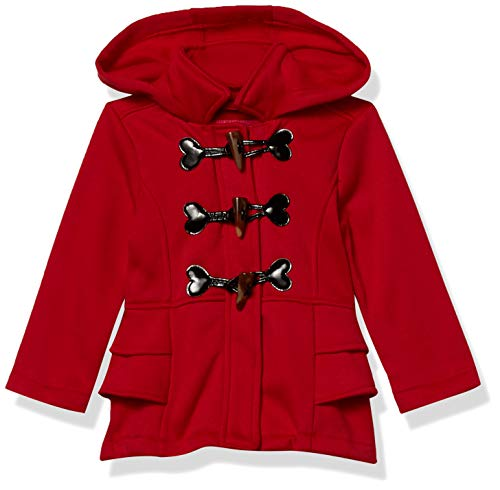 Pink Platinum Baby Girls' Fleece Long Sleeve Coat, RED, 12M
