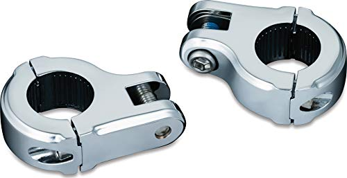 Kuryakyn 7617 Motorcycle Foot Control Component: Brute Highway Peg Mounts, Universal Fit for 1-1/4' Engine Guards/Tubing, Chrome, 1 Pair