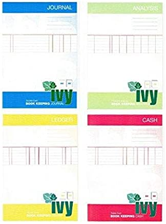 80gsm Double Cash A4-32 Page Ivy Journal Book Keeping