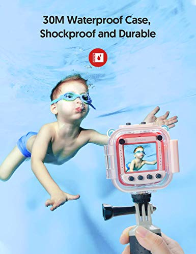 """Victure Kids Camera Waterproof 1080p Full HD Video Camcorders Sports Action Digital Camera with 16GB SD Card for Girls… 3 <p>【8MP Photo & 1080p HD Video & 16GB card】 Victure Kids Camera KC200 features Full HD 1080p@/30fps videos and 8MP bright photos, shooting the most memorable moments of children. Large-capacity storage card is good for children to take a lot of photos and videos. KC200 is the best action camera as a Christmas/ birthday/ holiday gift for children 4-12 years. 【Durable & Waterproof Case】With the professional IP68 level waterproof case, Victure waterproof video kids camera can be used underwater 30m (100ft) to explore adventures, best for beach, diving, swimming, drifting, snorkeling, surfing and more. 【Colorful Filters & Unique Frames】 With built-in 7 colorful video filters and 6 unique designed photo frames, Victure kids camera can fully develop children's creativity. 2"""" LCD color screen presents and view all images directly, making recording a lifestyle. 【Useful Accessories & Multiple combinations】Included Class 10 Micro SD 16GB Card and versatile mounting kits allow the kids sports camera arrive and play, can be attached to skateboards, bike or helmets. Durable neck strap ensure safe using and full-protection. 【Excellent After-Sales Service】Victure Kids Camera supports 30-days money back and 12 months warranty and free customer service for life. A qualified after-sale service team, 7 days/ 24 hours serving for you.</p>"""