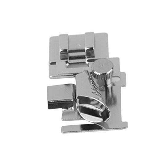 Tinksky Sewing Machine Presser Foot Snap on Bias Tape Binding Binder Foot Silver