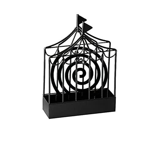 Rpporm Räucherspiralen Halter Mückenspirale Metall Halter Vogelkäfig innovativer Hause Räuchergefäß mit Griff Retro Metall Räucherspiralen für Haus Camping Zubehör