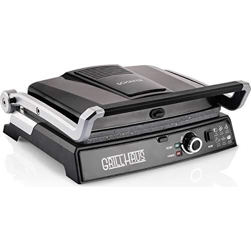 Schafer Grill Haus 2000W Granite Toast Machine Griddle Electric Steel Press Panini Maker Grill Slice Bread Toaster Sandwich Flat Griller Electrica Kitchen Appliances (EU Adapter) (Black)