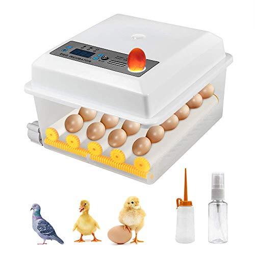S SMAUTOP Incubatrice di Uova 16 Uova Mini Incubatrici Automatiche Digita con Controllo della Temperatura Turner Egg Hatcher Machine per la Schiusa di Uova di Tacchino/Oca/Uccello/Quaglia/Pollo