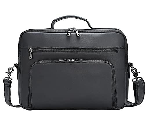 Makeupart Valigetta per Laptop in Pelle da 15,6 Pollici Borsa da Viaggio Multiuso Fatta a Mano da Viaggio Custodia per Tablet Borsa a Mano Borsa a Mano Borsa a Tracolla da Uomo (Color : Blue)
