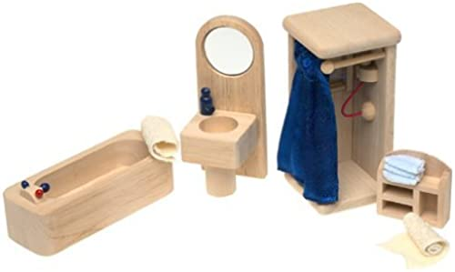 Small World Toys Ryan's Room Wooden Dollhouse - Bathtime and Bubbles Bathroom by Small World Toys