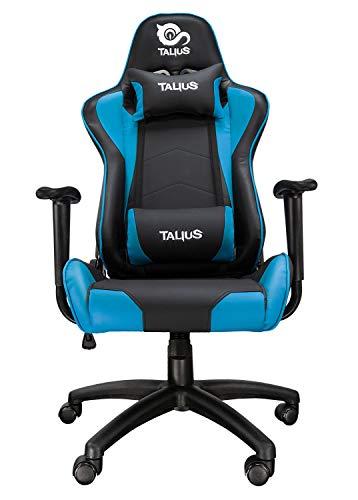 Talius Silla Gecko Gaming, Brazos fijos, Butterfly, Base Nylon, Ruedas Nylon, Gas Clase 4 (Azul)