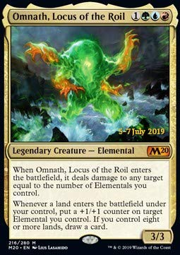 Magic : The Gathering MTG - Omnath, Locus of The Roil (V.2) - Omnath, il Torbidolocus - Core 2020: Extras XM20 216 Foil Italiano(Italian)