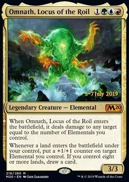 Magic : The Gathering MTG - Omnath, Locus of The Roil (V.2) - Omnath, il Torbidolocus - Core 2020: Extras XM20 216 Foil Italiano(Italian)