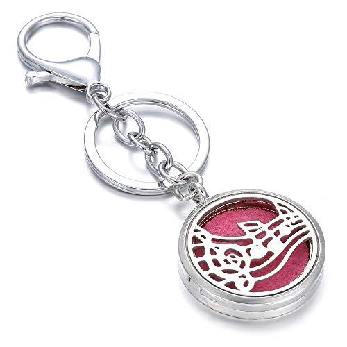 Nueva Llavero De Acero Inoxidable Difusor De Aceite Esencial Locket Joyería De Perfume para Mujeres Hombres Joyería