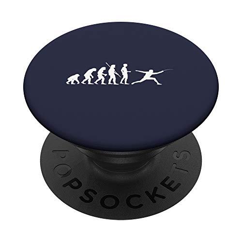 Evolution Fechter - Lustiges Fun Fechten - PopSockets Ausziehbarer Sockel und Griff für Smartphones und Tablets