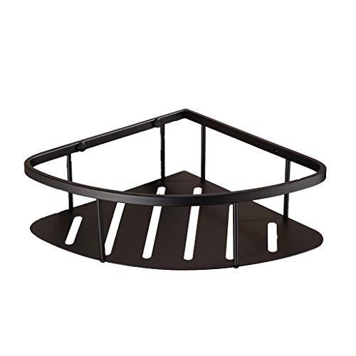 Zwarte douchecabine - wandmontage Rekken 304 roestvrij staal enkele laag douche plank hoek mand badkamer hanger