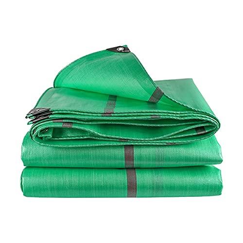 SSHA Abdeckplane Hochleistungs-grüne Poly-Plane, Multifunktions-Polyethylen-Kunststoff-wasserdichter Tuch-Campingzelt Poly-Plane Plane wasserdicht (Color : Green, Size :...