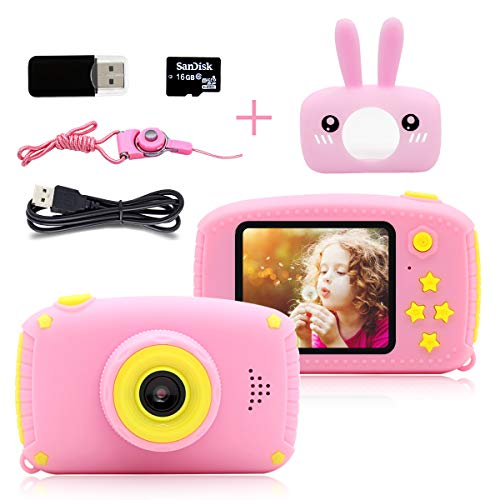 PUZ Toy Toys for 3-6 Year Old Girls Kids Camera HD 1080P Digital Camera for...