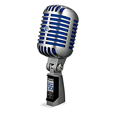 Shure Super 55 Deluxe Vocal Microphone,Silver
