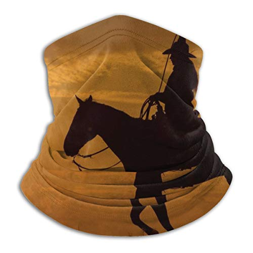 Western Cowboy Femmes Ride Cheval Crépuscule Polaire Cache-Col Guêtre Hiver Coupe-Vent Ski Masque Visage Cagoule Demi-Masque Pour Femmes Hommes
