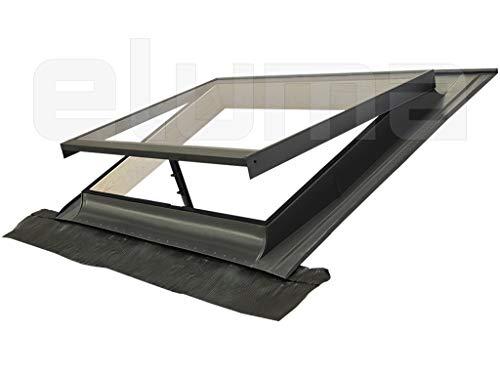 Ausstiegsfenster - modell BASIC VASISTAS/Dachfenster + Eindeckrahmen/Oberlicht/Zugang zum Dach/Öffnung Art Velux (55x45 Breite x Höhe)