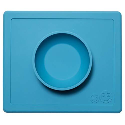 Ezpz ezpz Happy Bowl Teller Saugnapf azzurro hellblau