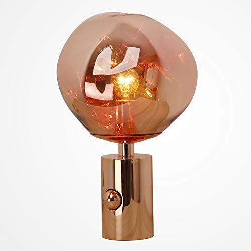 INJUICY Tom Dixon PVC bureaulamp, vulkanische lava tafellamp, nachtkastje voor slaapkamer, nachtkastje, werkkamer, 10 x 17 inch, kunst diamond decoratie tafellamp modern D x H: 10 x 17 Zoll rood