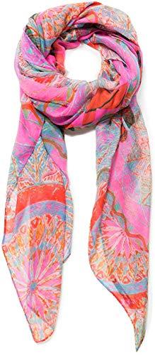 Desigual Damen Rectangle Foulard Soft Mandala Woman PINK Schal, Rosa (Nube Rosa 3121), One Size (Herstellergröße: U)