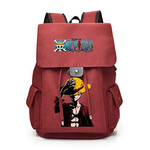 ULPUXMM Mochila con dibujos animados de anime mono D Ruffy, mochila escolar, bolsa para libros, bolso bandolera, mochila para ordenador portátil 5 B