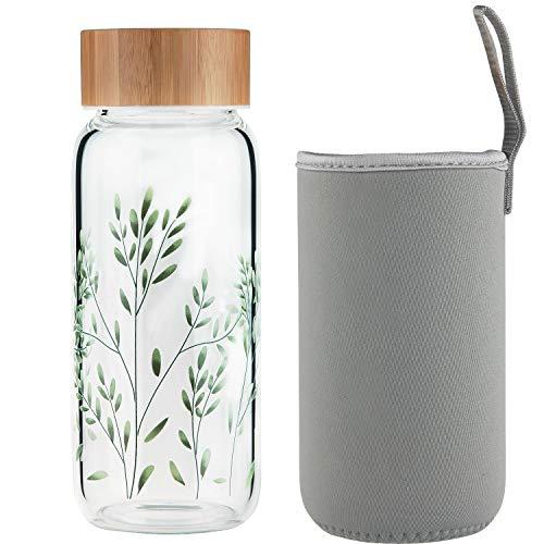 Ferexer Borraccia di Vetro bottiglia vetro 600 ml