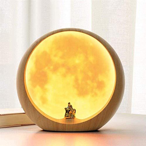 Led Nacht Beleuchtet Usb Nachttisch Schreibtisch Nachtlicht Warmweiß Mond Landschaft Umgebungslicht Mondlicht Laden Nachtlicht