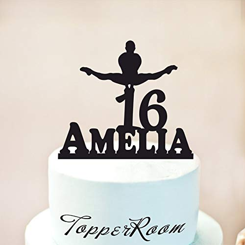 Male Gymnast Cake Topper Balance Beam Cake Topper Happy Birthday Cake Topper Gymnastic Decoration 16 Cake Topper Gymnastics Birthday