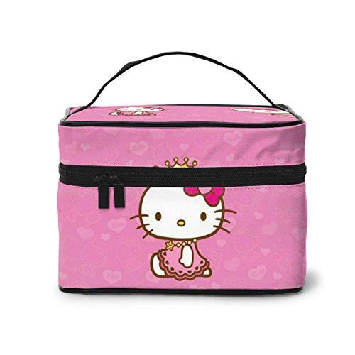 Bolsa de maquillaje, bolsa de viaje portátil Hello Kitty bolsa grande de malla B organizador neceser para mujeres y niñas