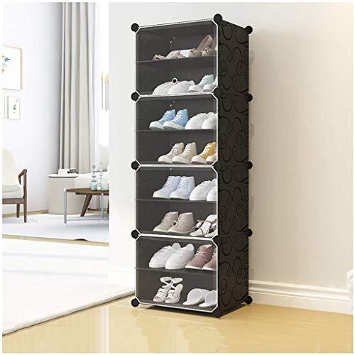 KAYBELE Puerta Transparente Simple de Zapatos Caja de plástico a Prueba de Polvo Multiusos del Zapato Botas casa for Guardar múltiples Capas Zapatero, 44x31x127cm, 44x31x127cm
