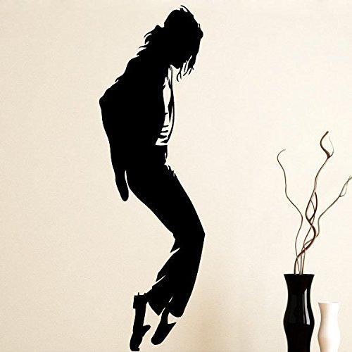 Ambiance-Live Wandtattoo Michael Jackson und Moonwalk 2-180 X 55 cm, Schwarz