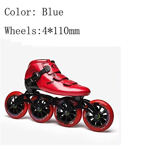 Best Bargain XIANGNAIZUI Inline Skates EUR Size 30-44 Carbon Fiber Professional Competition 490/100/...
