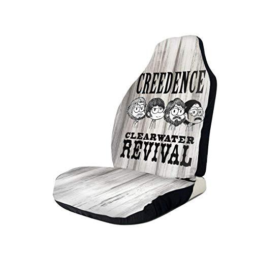 Fundas de Asiento de Carro Creedence Clearwater Revival Fashion, Asiento de Cubo Cover con Protectores de Almohadillas de cinturón de Seguridad para automóvil