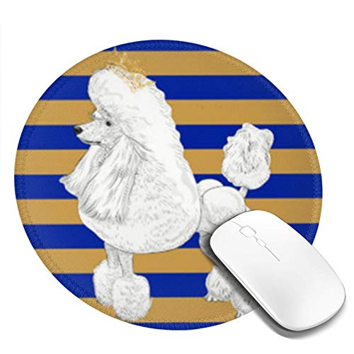 Personalized Mouse Pad Round Mouse Pad Best Mouse Pad Ergonomic Mouse Pad-Blue Sigma Poodle Behavior Gamma Rho Sgrho Gold 1922