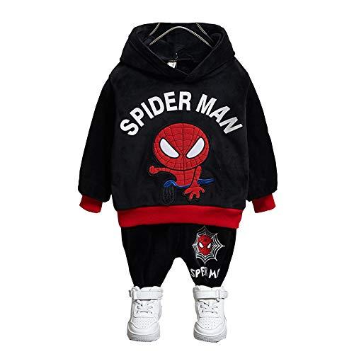 Kinder Bekleidungsset Spiderman Kostüm Jungen Sweatshirt Hose Kapuzenpullover Kinderanzug Baby Junge Kleidung Outfit (I,110cm)