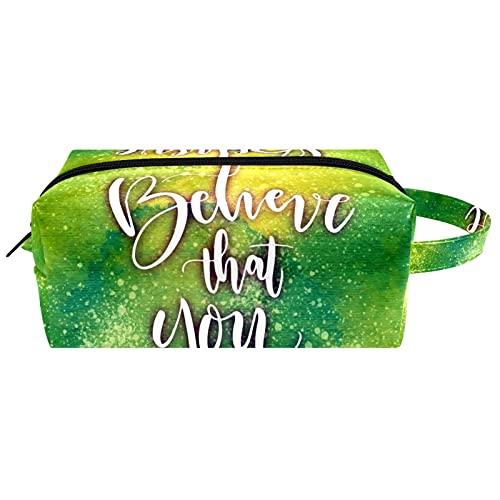 Neceser colgante bolsa de cosméticos papelería organizador portátil estuche de lápices todo lo posible si crees