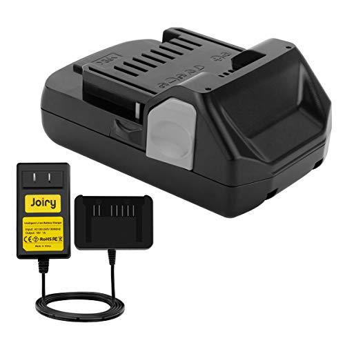 Joiry Battery and Charger Pack for Hitachi 18V 2500mAh Li-ion Replacement 339782 BSL1830C BSL1815X BSL1815S BSL1830 330139 330557