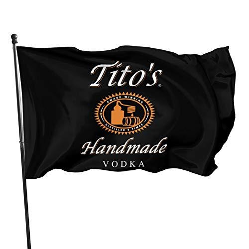 Pekivide Tito'S Handmade Vodka Decorations Indoor/Outdoor Flag 3x5 Ft