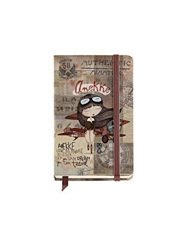 ANEKKE Cuaderno Liso, Aviator, 9 x 14 cm