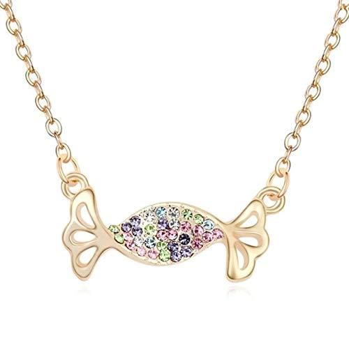 ANAZOZ Schmuck Damen Halskette Vergoldet Bonbon Halskette für Fraue Bunt Damen Kette