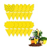 AWESMR Yellow Sticky Trap Flying Insect Sticky Gnat Catcher Dual-Sided for Flies, Aphids, Fruit Fly Indoor and Outdoor 12 Pack