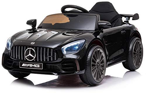 giordano shop Macchina Elettrica per Bambini 12V Mercedes GTR Small AMG Nera