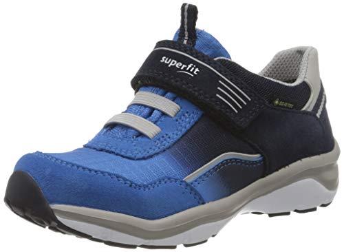 Superfit Jungen SPORT5 Sneaker, (Blau/Grau 80), 32 EU